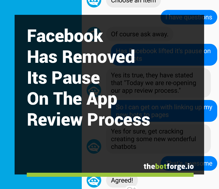 Facebook has removed its pause on the app review process