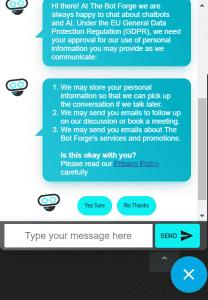 GDPR Chatbot consent